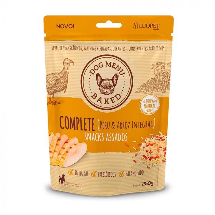 Biscoito Luopet Complete sabor Peru & Arroz Integral para Cães - Leve 250g pague 180g