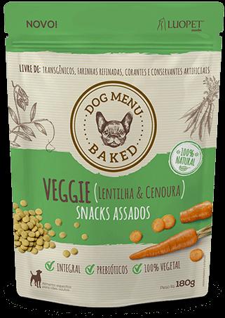 Biscoito Luopet Veggie sabor Lentilha e Cenoura para Cães - 180g