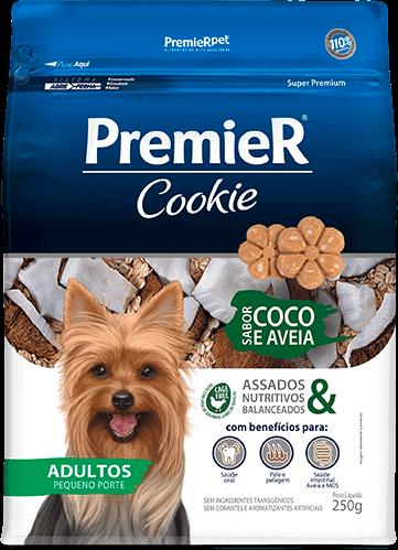 Biscoito Premier Coco e Aveia Cães Adultos - 250 g