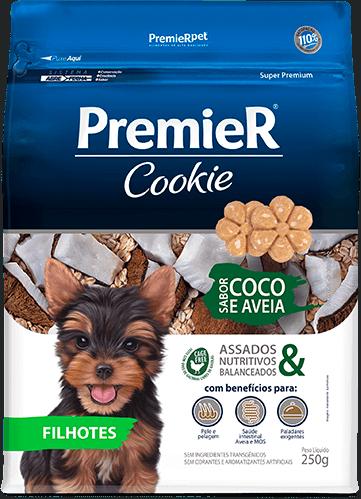 Biscoito Premier Coco e Aveia Cães Filhotes - 250 g