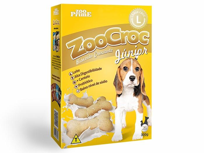 Biscoito Zoocroc Júnior Crocante Raças Grandes 300g