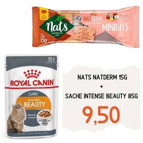 Combo da Beleza: Sachê Royal Canin Intense Beauty 85 g + Nats NatDerm 15g