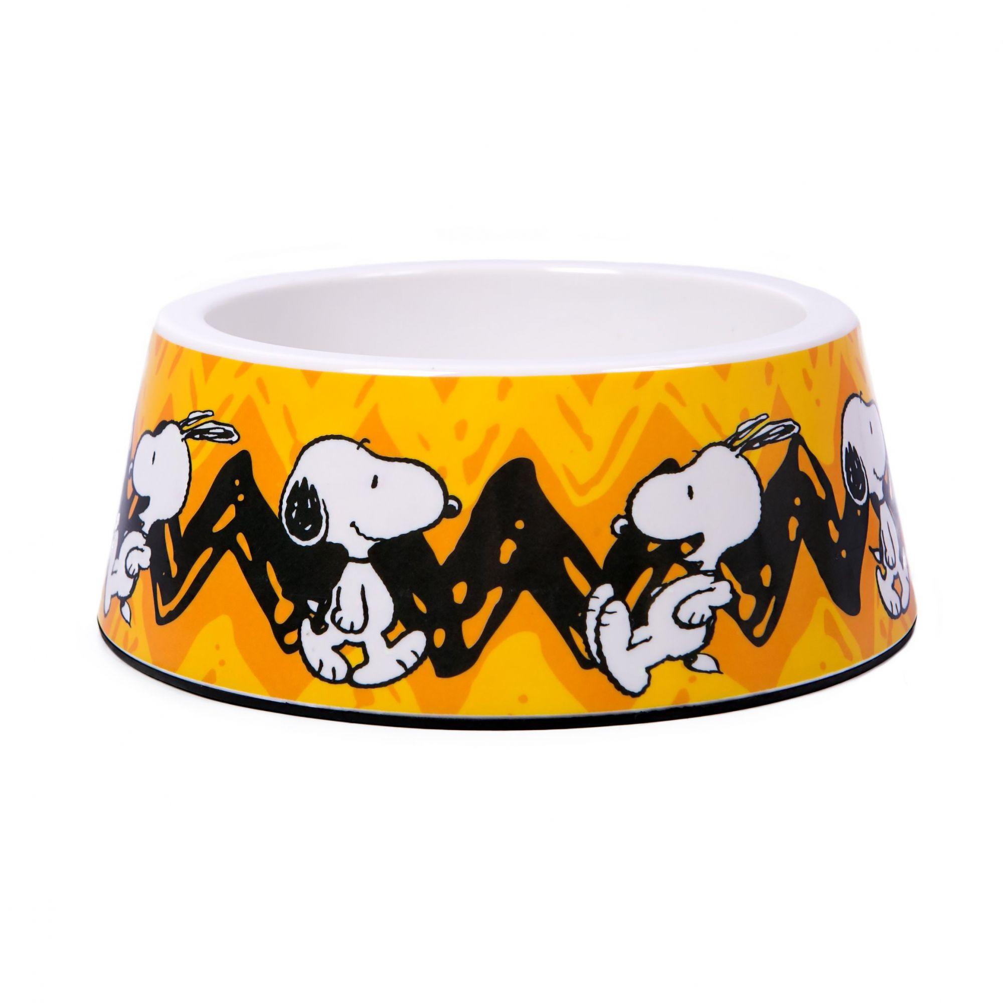 Comedouro melamina cães - Snoopy Charlie