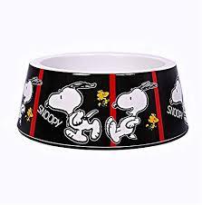 Comedouro melamina cães - Snoopy FilmBlack