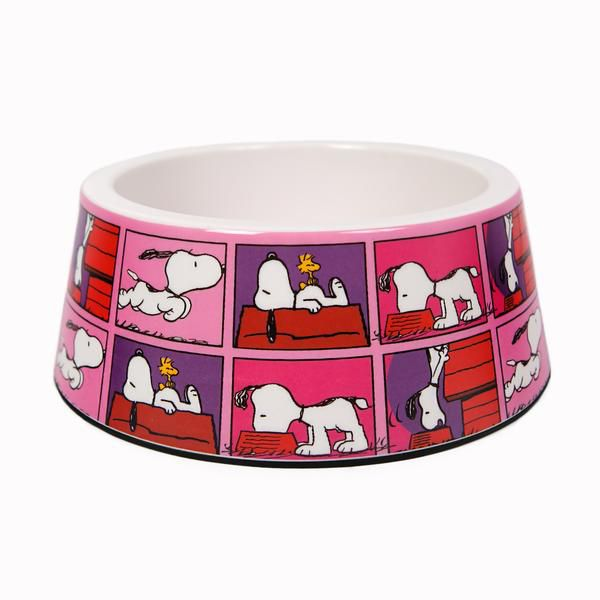 Comedouro melamina cães - Snoopy QuadPink