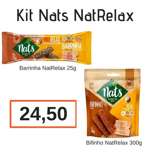 Kit NatRelax: Barrinha de Cereal NatRelax 25 g + Bifinho NatRelax 300g