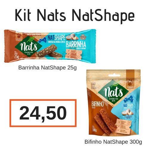 Kit NatShape: Barrinha de Cereal Natshape 25g + Bifinho Natshape 300g