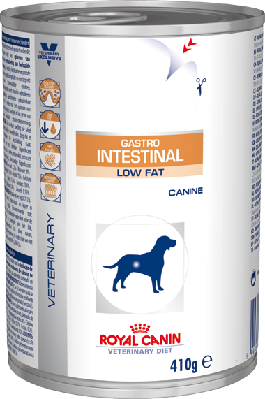 Royal Canin Gastro Intestinal Low Fat Canine - Alimento úmido - lata 410 gr