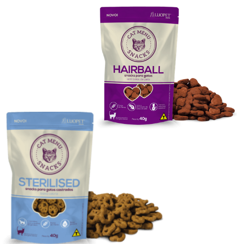 Luopet Cat Menu Hairball 40g + Sterilised 40g