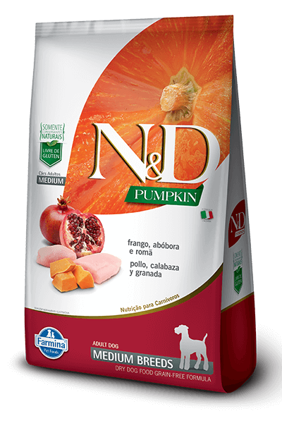 ND Natural & Delicious Pumpkin - Frango e Romã (Raças Médias)  - 10,1kg