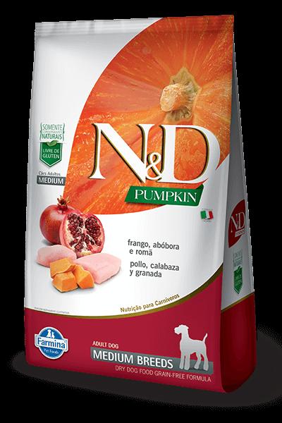 Ração N&D Pumpkin - Frango e Romã Medium  - 10,1kg