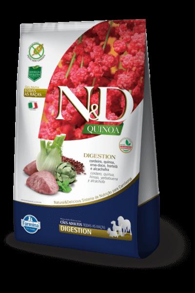 Ração N&D Digestion Quinoa Cordeiro para Cães Adultos com Sensibilidade Digestiva