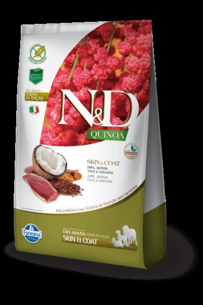 Ração N&D Natural & Delicious Quinoa Skin & Coat Pato (Cães adultos)
