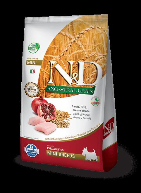 Ração N&D Ancestral Grain - Frango e Romã - Adulto Mini