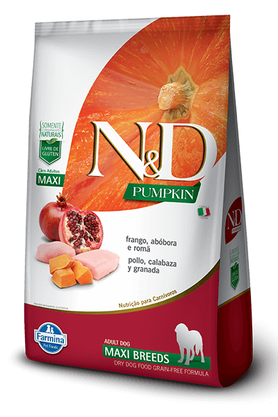 ND Natural & Delicious Pumpkin - Frango e Romã (Raças Grandes)  - 10,1kg