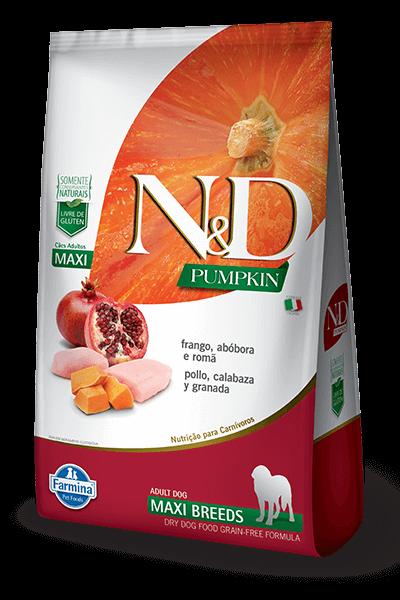 Ração N&D Pumpkin - Frango e Romã Maxi  - 10,1kg
