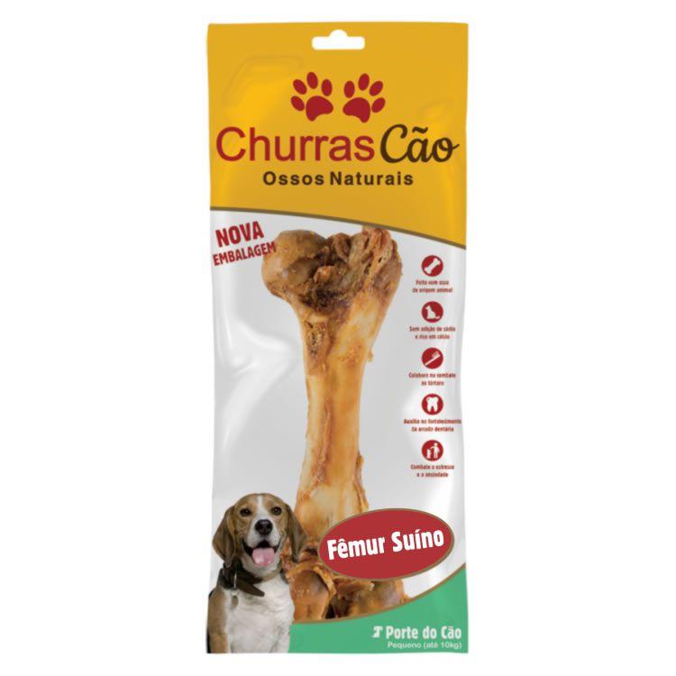 Osso suíno - Fêmur Natural Defumado - ChurrasCão