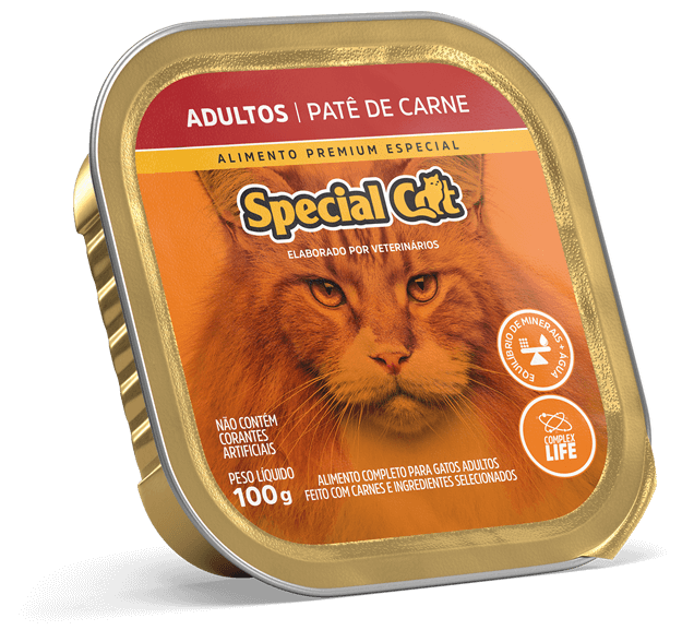 Patê Special Cat Adultos Sabor Carne - 100g