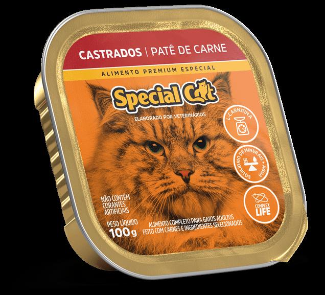 Patê Special Cat Castrados Sabor Carne - 100g