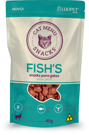 Petisco Luopet Cat Menu Fish 40g