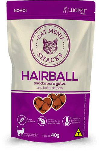 Petisco Luopet Cat Menu Hairball 40g