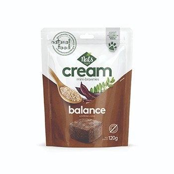 Petisco para cães Nats Cream Mini Brownies  Alfarroba e Aveia - 120 g