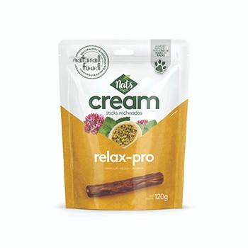 Petisco para cães Nats Cream Relax-pro Palitos Recheados  Maracujá, Melissa e Valeriana - 120 g