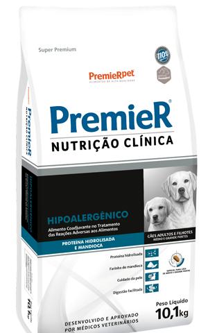 Ração Premier Nutrição Clínica Hipoalergênico Proteína Hidrolisada para cães de médio e grande porte