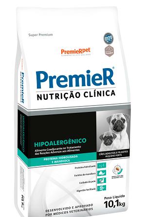 Ração Premier Nutrição Clínica Hipoalergênico Proteína Hidrolisada para cães de pequeno porte