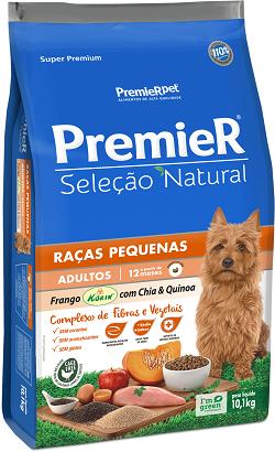 Ração Premier Seleção Natural  Frango Korin com Chia e Quinoa - Raças Pequenas