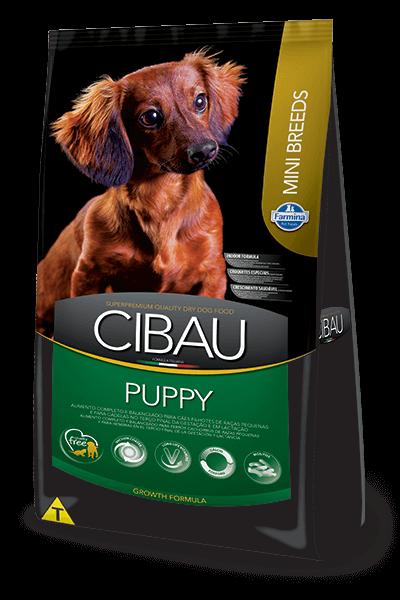 Ração Cibau Puppy Mini Breeds para cães filhotes de porte pequeno