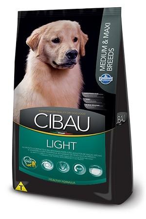 Ração Cibau Light Medium e Maxi para cães adultos - acima do peso - de médio ou grande porte - 12kg