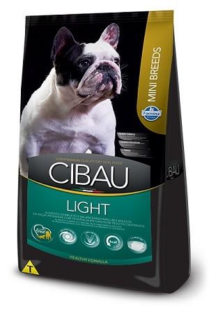 Ração Cibau Light Mini para cães adultos - acima do peso - de pequeno porte - 3 kg