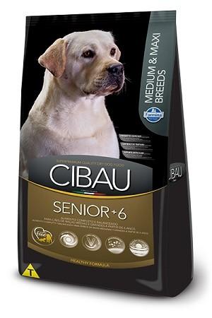 Ração Cibau Sênior Medium e Maxi para cães adultos - acima de 6 anos - de médio ou grande porte - 12kg