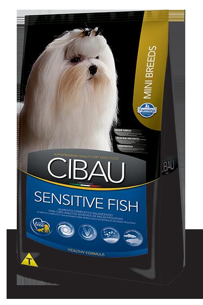 Ração Cibau Sensitive Fish Mini para cães adultos - sensíveis - de pequeno porte