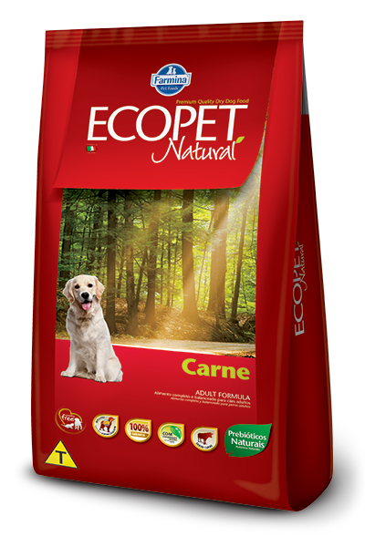 Ração Ecopet Natural Carne para cães adultos - 15 kg