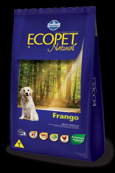 Ração Ecopet Natural Frango para cães adultos - 20kg
