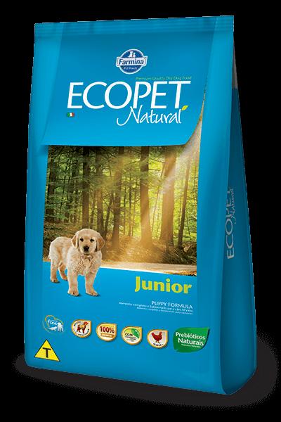 Ração Ecopet Natural Frango para cães filhotes
