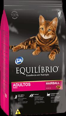 Ração Equilíbrio Gatos Adultos Hairball  7,5 kg