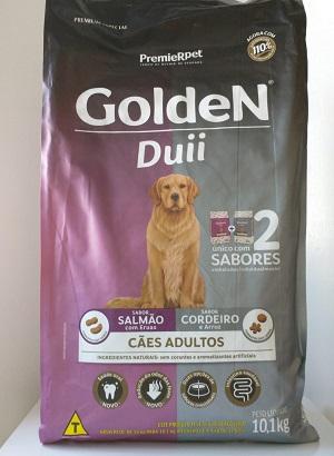 Ração Golden Duii Cães Adultos Salmão com Ervas & Cordeiro e Arroz 10,1 kg