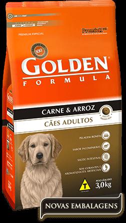 Ração Golden Adultos Carne & Arroz 15kg