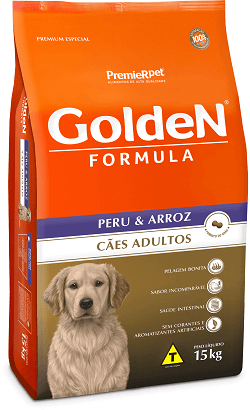 Ração Golden Adultos Peru & Arroz 15kg