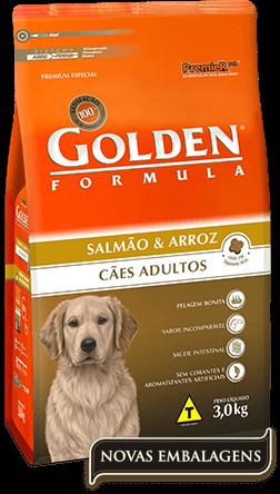 Ração Golden Fórmula Adultos Salmão & Arroz 15kg