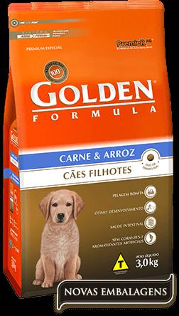 Ração Golden Filhotes Carne & Arroz 15kg