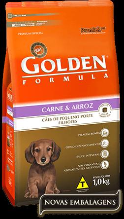 Ração Golden Fórmula Filhotes Carne & Arroz  - Pequeno Porte