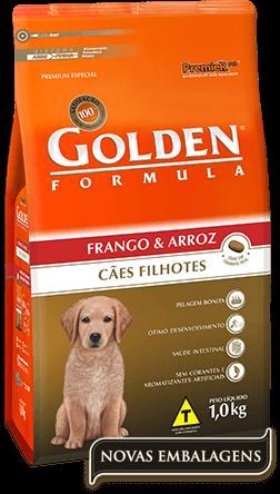 Ração Golden Fórmula Filhotes Frango & Arroz
