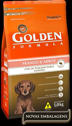 Ração Golden Fórmula Filhotes Frango & Arroz Pequeno Porte