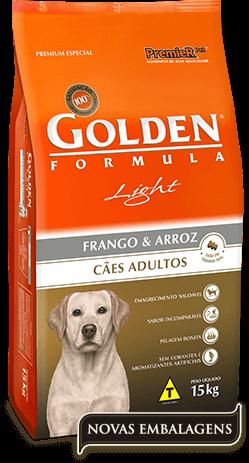 Ração Golden Light Cães Adultos Frango e Arroz - 15kg