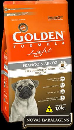 Ração Golden Fórmula Light Cães Adultos Pequeno Porte - Frango e Arroz