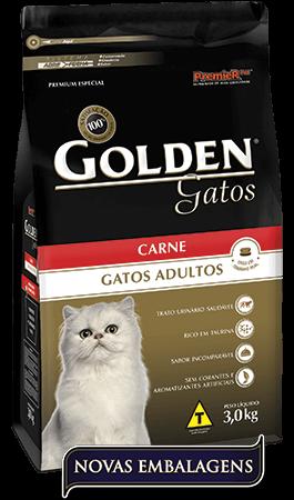 Ração Golden Gatos Adultos Carne